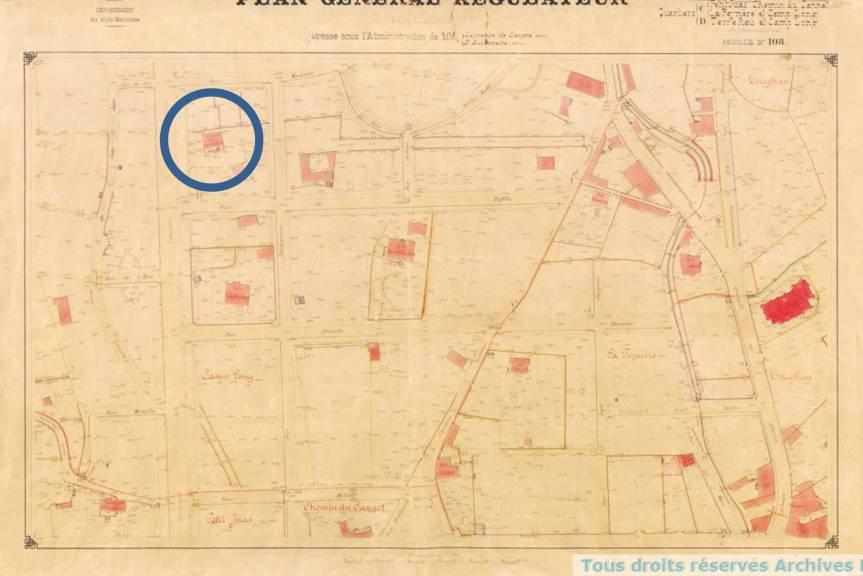 Plan régulateur 1884 - Cannes - 1Fi135 - edited
