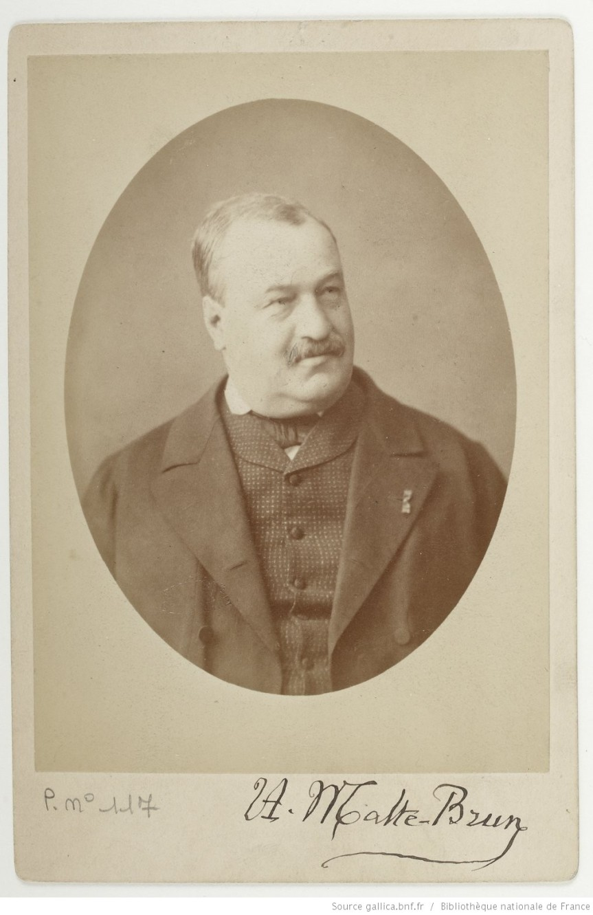 Victor Adolphe Malte-Brun (1816–1889), geographer and cartographer - Recto