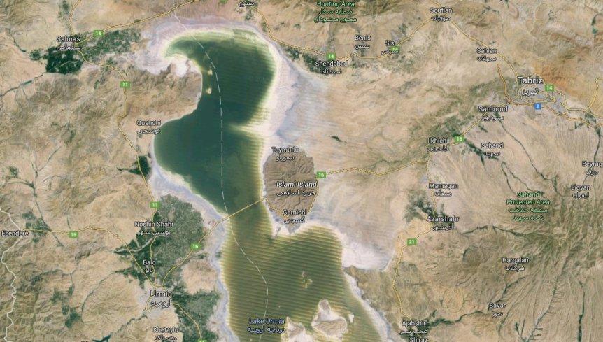 Lake Urmia - with Salmas and Tabriz