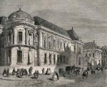 Bibliotheque imperiale en 1862 - source Le Magasin Pittoresque