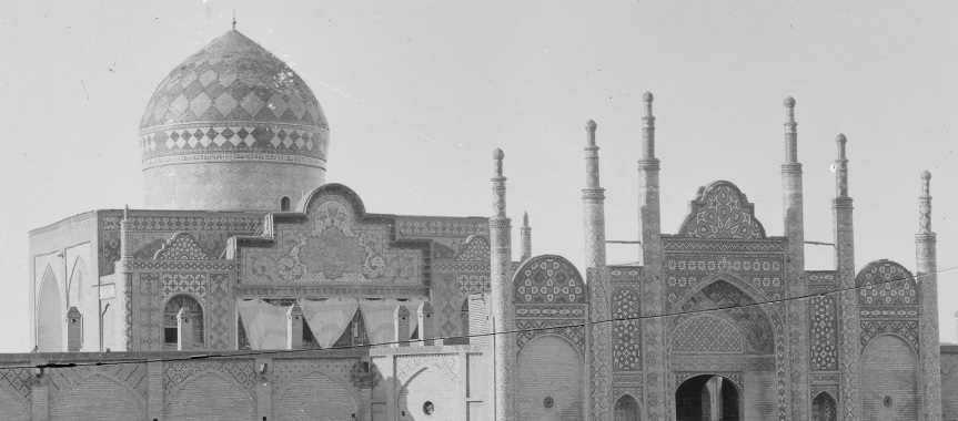 Qazvin - Imamzada Hussayn Mosque - photography by Antoin Sevrugui ca. 1890
