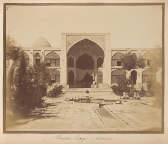 Tehran - Entrance to Bazar Emyr - Photography by Luigi Pesce, 1860