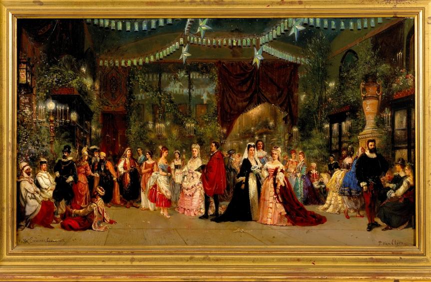Tetar van Elven - Bal Travesti chez le baron Lycklama 1874 - Musée de la Castre