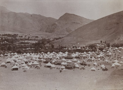 A Qajar royal tent encampment, late 19th century (Collection: Brooklyn Museum)