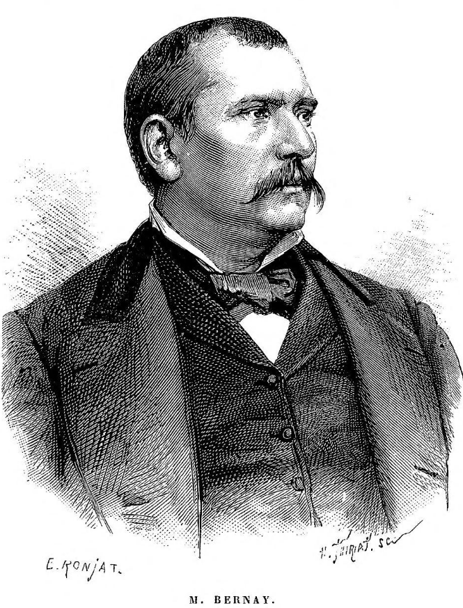 "Emile Charles Bernay (1841- ), commis de chancellerie, Légation de France à Téhéran. (Drawing taken from Jane Dieulafoy's book ""Les Perses,..."" of 1887)"