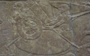 Baghdad boat - Relief 7thC BC